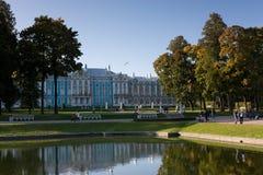 höstaftonpark Royaltyfri Foto