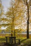 Höstatmosfär i den litauiska staden Zarasai Royaltyfri Fotografi