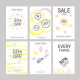 Höstbakgrund, baneruppsättning Försäljningen för designbegrepp, rabattbanerrabatter, presentkort stock illustrationer