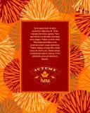 höstbakgrundscloseupen colors orange red för murgrönaleaf också vektor för coreldrawillustration Royaltyfri Bild