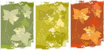 höstbakgrundsleaves royaltyfri illustrationer