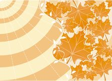 höstbakgrundsvektor Arkivbild