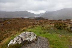 Höstberglandskap efter regn Royaltyfri Foto