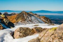 Höstberglandskap, Tatra berg arkivbilder