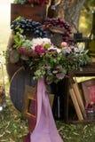 Höstbröllopbukett Arkivfoto