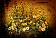 höstbuketten blommar vasen stock illustrationer