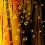 Höstbuskar med leaves stock illustrationer
