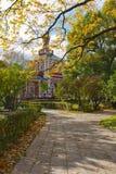 Höstdag i den Novodevichy kloster i Moskva Royaltyfria Bilder