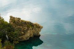 Höstdag på sjön Ohrid macedonia Arkivfoton