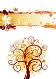 höstdesigntema Royaltyfria Bilder