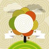 Hösten är kommande Illustrationbegrepp Arkivbild