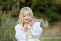 hösten behandla som ett barn den sista modern för blomman Arkivbilder