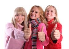 hösten beklär lyckliga flickor Arkivbild