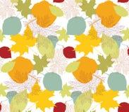 hösten blad seamless Arkivbild