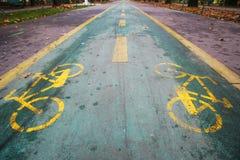 hösten cyklar två Royaltyfria Bilder