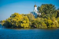 Hösten Dnepr, Ukraina Arkivfoto
