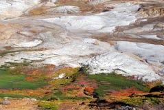 Hösten färgar calderaen Arkivbilder