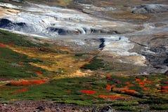 Hösten färgar calderaen Arkivfoton