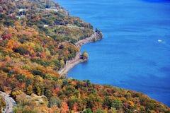 Hösten färgar på björnbergdelstatsparken, nya Yor Fotografering för Bildbyråer