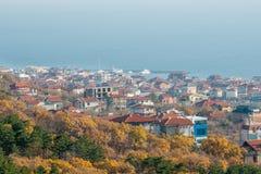 Hösten för färger på senare i Sveti Vlas, Bulgarien arkivfoton