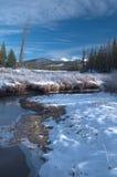 hösten gjorde tidigt bergbergbilden den polara strömmen Royaltyfri Fotografi