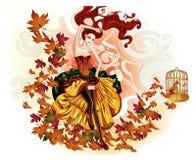 hösten-guld royaltyfria foton