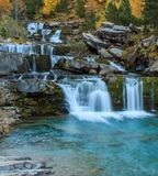 Hösten i den Ordesa dalOrdesa nationalparken - Monte Perdido royaltyfri foto