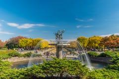 Hösten i minnes- Showa parkerar, Tachikawa, Japan Royaltyfri Foto