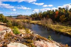Hösten i provinsiella Killarney parkerar Ontario Kanada Fotografering för Bildbyråer