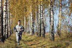 Hösten joggar Royaltyfria Bilder
