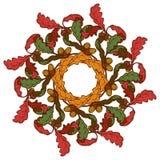 hösten låter vara kranen Ljust färgat vektor illustrationer