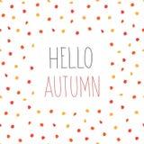 hösten låter vara modellen seamless Hello Autumn Background Vektor Illustrationer