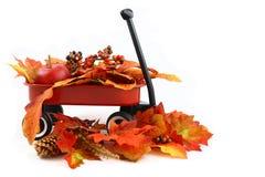 hösten låter vara röd vagn Royaltyfria Bilder