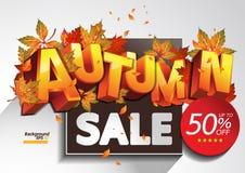 hösten låter vara rött försäljningsord stock illustrationer