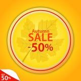 hösten låter vara rött försäljningsord Royaltyfria Bilder