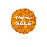 hösten låter vara rött försäljningsord Arkivbild