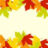 Hösten låter vara ramen Arkivfoton
