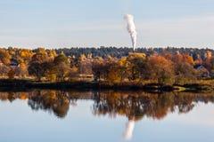 Hösten landskap Koknese latvia Royaltyfri Foto