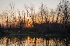 Hösten landskap Ryssland Arkivbild