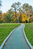 Hösten parkerar platser Fotografering för Bildbyråer