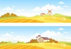 Hösten sätter in baner stock illustrationer