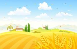 Höstfält royaltyfri illustrationer