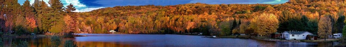 Höstfärger i Quebec, Nordamerika Royaltyfria Foton
