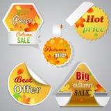 Höstförsäljningsetiketter Royaltyfria Foton