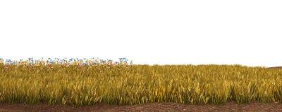 Höstgräs som isoleras på den vita illustrationen för bakgrund 3D arkivfoton