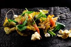 Höstgrönsaker/fint äta middag Arkivbild
