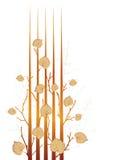 höstgrungeleaves royaltyfri illustrationer