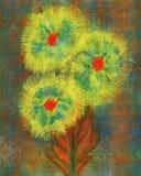 Höstguling blommar digital grafisk målning Royaltyfria Bilder
