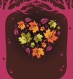 hösthjärta royaltyfri illustrationer