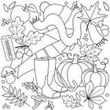 Höstillustration för barn vektor illustrationer